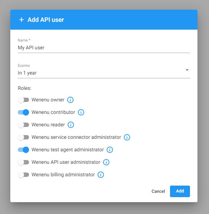 Create API user