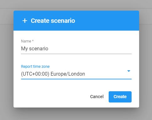 Creating a new test scenario
